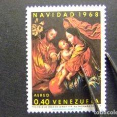 Sellos: VENEZUELA 1968 NOËL LA GRANDE FAMILIE DE FRANCISCO JOSÉ DE LERMA YVERT PA 957 ** MNH. Lote 116385523