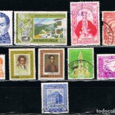 Sellos: VENEZUELA - LOTE DE 10 SELLOS - VARIOS (USADO) LOTE 23. Lote 117706859