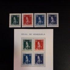 Sellos: VENEZUELA. YVERT A-358/61 + HB-2. SERIE CTA NUEVA ***. ALGUNA MANCHA DEL TIEMPO. ISABEL LA CATÓLICA. Lote 118412226