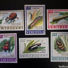 Sellos: VENEZUELA. YVERT 758/60 + A-947/9. SERIE COMPLETA NUEVA SIN CHARNELA. FAUNA. INSECTOS.. Lote 118412423