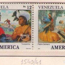 Sellos: VENEZUELA, 1540/41. UPAEP´91. DESCUBRIDORES.. Lote 133552134