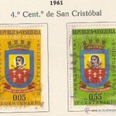 Sellos: VENEZUELA . 1961. AÉREO. YT Nº 739,740. Lote 133606122