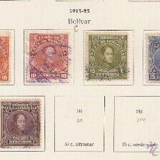 Sellos: VENEZUELA. 1915-23. YT Nº 134,135,136,137,138,138A,140,143. Lote 142129802