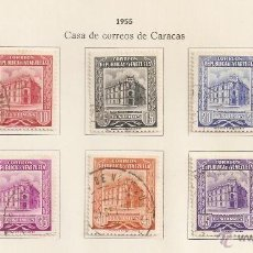 Sellos: VENEZUELA. 1955. YVERT Nº 515/522. Lote 142130934