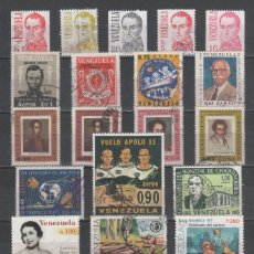 Sellos: R/19274, LOTE DE 25 SELLOS USADOS DE -VENEZUELA-, TODOS DIFERENTES, EN BUEN ESTADO. Lote 151425666