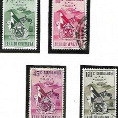 Sellos: YVERT AÉREO 391/99 VALORES SUELTOS. ESCUDO DEL ESTADO DE ARAGUA, VALORES CAROS.. Lote 152342158