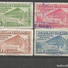 Sellos: VENEZUELA CORREO AEREO YVERT NUM. 368/371 SERIE COMPLETA USADA. Lote 152511738