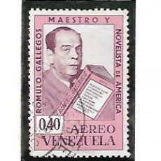 Sellos: YVERT AÉREO 810/12, SERIE COMPLETA, RÓMULO GALLEGOS.. Lote 152533250