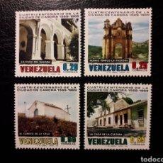 Sellos: VENEZUELA. YVERT 789/92 SERIE COMPLETA NUEVA SIN CHARNELA. CIUDAD DE CARORA.. Lote 154352117