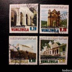 Sellos: VENEZUELA. YVERT 789/92 SERIE COMPLETA USADA. CIUDAD DE CARORA.. Lote 154352129