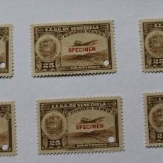 Sellos: SEIS SELLOS ESTADOS UNIDOS VENEZUELA:1939; SCOTT C109, SPECIMEN-25CMS-TALADRO-GOMA-SEIS SEL-RARÍSIMO. Lote 154969890