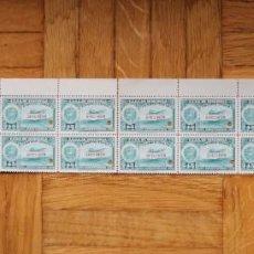 Sellos: HOJA 20 SELLOS EE. UU. VENEZUELA+3 MÁRGENES-1939;SCOTT C109,SPECIMEN-45CS-UN TALADRO-CON GOMA. Lote 154972802