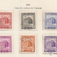 Sellos: VENEZUELA. 1955. YVERT Nº 515/522. Lote 155893226