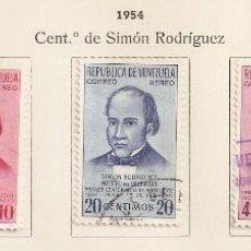 Sellos: VENEZUELA . 1954. AÉREO. YT Nº 561/565. Lote 155893290