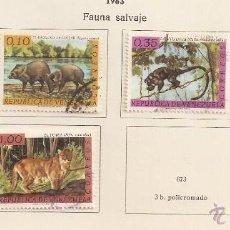 Sellos: VENEZUELA. 1963. YT 669/672. FAUNA. Lote 155893642