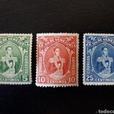 Sellos: VENEZUELA. YVERT 131/3. SERIE COMPLETA, LOS 2 PRIMEROS LEVE CHARNELA, EL 133 SIN GOMA. SIMÓN BOLÍVAR. Lote 156805286
