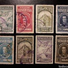 Sellos: VENEZUELA. YVERT 200/07 SERIE COMPLETA USADA EXCEPTO EL 207 NUEVO SIN CHARNELA. CAFÉ, BOLIVAR.... Lote 156911504