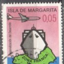 Sellos: VENEZUELA - UN SELLO - EDIFIL #885 -***ISLA MARGARITA - PUERTO FRANCO.***- AÑO 1973 - USADO. Lote 159017030