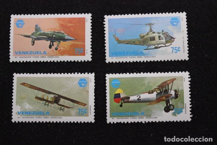4 SELLOS 59 ANIVERSARIO DE LA FUERZA AEREA (VENEZUELA - 1979) (Sellos - Extranjero - América - Venezuela)