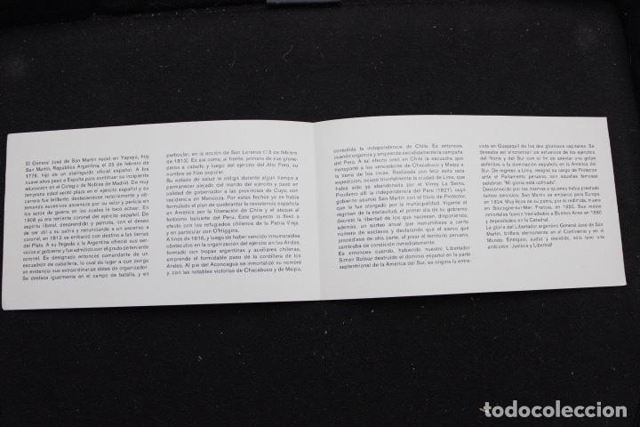 Sellos: SERIE 4 SELLOS NUEVOS DE VENEZUELA AÑO 1979 BICENTENARIO DEL NACIMIENTO DE SAN MARTÍN - Foto 3 - 161251502