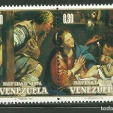 Sellos: VENEZUELA 1974 IVERT 943/44 *** NAVIDAD - PINTURA - LA SAGRADA FAMILIA. Lote 162854178