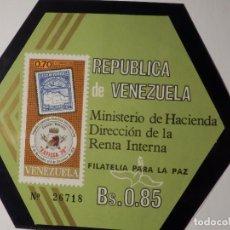Sellos: HOJITA - VENEZUELA - EXFILCA´70 - IVERT 818 - 1970. Lote 165136286