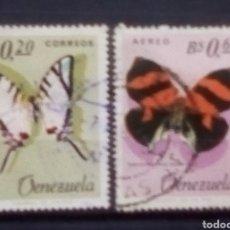 Sellos: VENEZUELA MARIPOSAS SERIE DE SELLOS USADOS. Lote 171523943