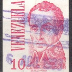 Sellos: VENEZUELA - UN SELLO - IVERT#VN-969 **SIMON BOLIVAR*- AÑO 1976 - SIN GOMA MATASELLADO. Lote 175524540