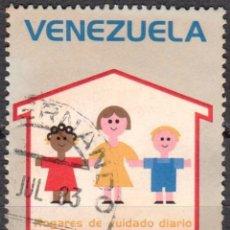 Sellos: VENEZUELA - UN SELLO - IVERT#VN-989 **DIA DEL NIÑO*- AÑO 1976 - SIN GOMA MATASELLADO. Lote 175525658