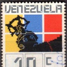 Sellos: VENEZUELA - UN SELLO - IVERT#VN-998 **NACIONALIZACION INDUSTRIA PETROLERA**- AÑO 1976 - MATASELLADO. Lote 175527415