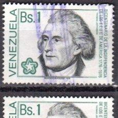 Sellos: VENEZUELA - UN SELLO - IVERT#VN-994 **INDEPENDENCIA EE.UU.**- AÑO 1976 - SIN GOMA MATASELLADOS. Lote 175528384