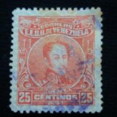 Sellos: CORREOS VENEZUELA, 25 CENTAVOS, BOLIVAR, 1920.SIN USAR.. Lote 180194211