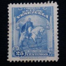 Sellos: CORREOS VENEZUELA, 25 CENTAVOS, BOLIVAR, 1905.SIN USAR.. Lote 180194282