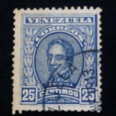 Sellos: CORREOS VENEZUELA, 25 CENTAVOS, URDANETA, 1915.SIN USAR.. Lote 180194387