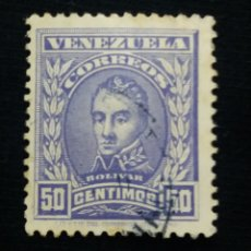 Sellos: CORREOS VENEZUELA, 50 CENTAVOS, BOLIVAR, 1911. SIN USAR.. Lote 180195248