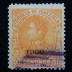 Sellos: CORREOS VENEZUELA, 50 CENTAVOS, BOLIVAR, 1911. SIN USAR.. Lote 180195307