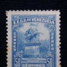 Sellos: CORREOS VENEZUELA, 50 CENTAVOS, ESTATUA BOLIVAR, 1947. SIN USAR.. Lote 180195438