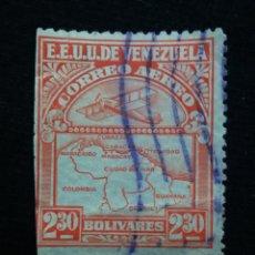 Sellos: CORREOS AEREO VENEZUELA, 50 CENTAVOS, 1939. SIN USAR.. Lote 180195516