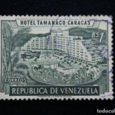 Sellos: CORREOS VENEZUELA, 1 BS, HOTEL TAMANACO,1957. SIN USAR.. Lote 180196090