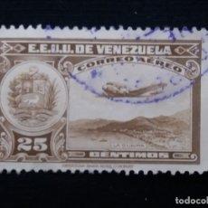 Sellos: CORREOS AEREO VENEZUELA, 25 CENTVS, LA GUAIRA,1939. SIN USAR.. Lote 180196320