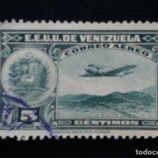 Sellos: CORREOS AEREO VENEZUELA, 5 CENTVOS, LA GUAIRA,1939. SIN USAR.. Lote 180196720