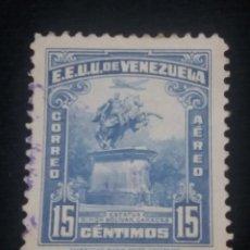 Sellos: CORREOS VENEZUELA, 15 CENTVOS, BOLIVAR,1947. SIN USAR.. Lote 180197050