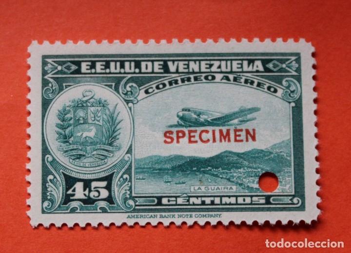 UN SELLO E.E. U.U. VENEZUELA-1939;SCOTT C109,SPECIMEN-45CMS-UN TALADRO-CON GOMA-PERFECTO (Sellos - Extranjero - América - Venezuela)