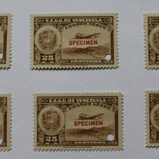 Sellos: SEIS SELLOS ESTADOS UNIDOS VENEZUELA:1939; SCOTT C109, SPECIMEN-25CMS-TALADRO-GOMA-SEIS SEL-RARÍSIMO. Lote 182403146