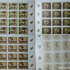 Sellos: VENEZUELA 4 PLIEGOS COMPLETOS, 12 VALORES C.U.CENTENARIO NATALICIO A.MICHELENA. Lote 182534806