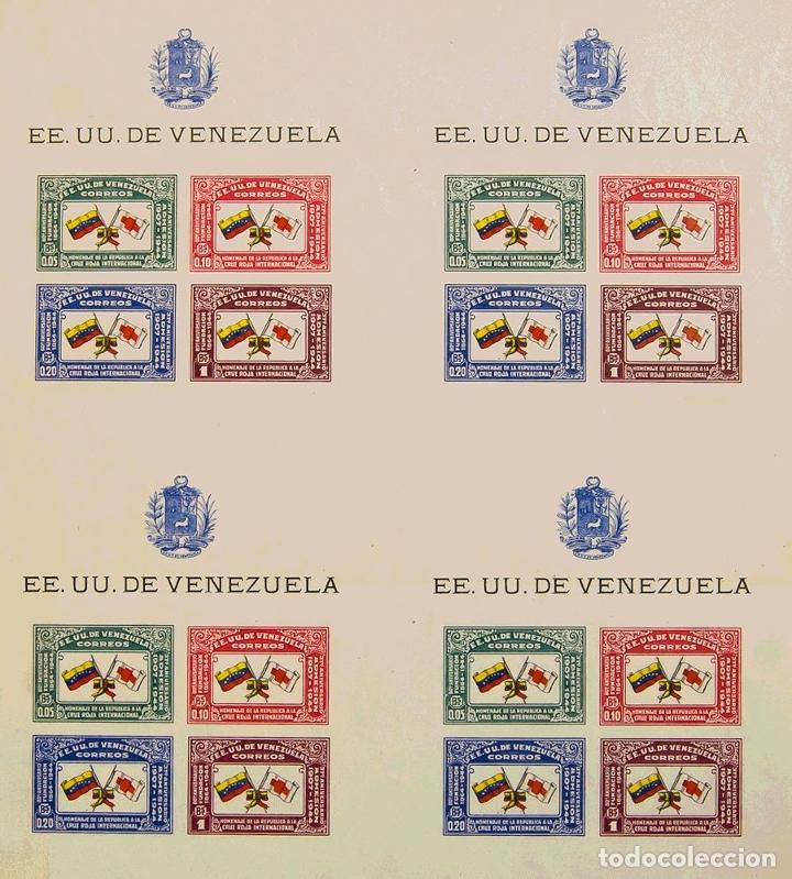VENEZUELA, HOJA BLOQUE. (*)1(4). 1944. HOJA BLOQUE, EN BLOQUE DE CUATRO SIN CORTAR. SIN DENTAR. MAG (Sellos - Extranjero - América - Venezuela)