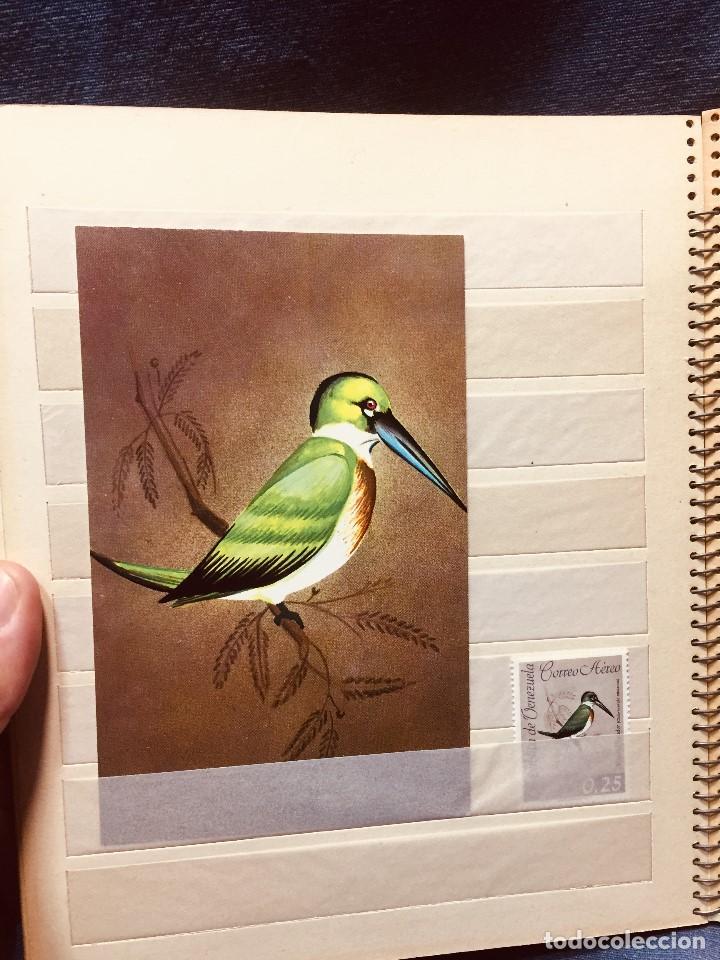 Sellos: colección serie sellos venezuela tarjetas postales aves mediados s xx - Foto 16 - 184549486