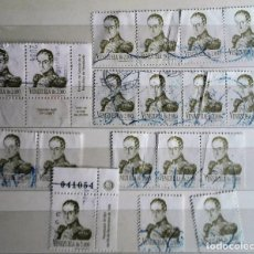 Sellos: VENEZUELA, 18 SELLOS USADOS DE SIMÓN BOLIBAR. Lote 190105241