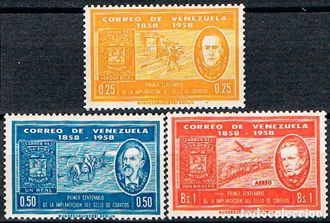 VENEZUELA Nº 1312/4, CENTENARIO DEL SELLO VENEZOLANO, NUEVO *** (SERIE COMPLETA) (Sellos - Extranjero - América - Venezuela)