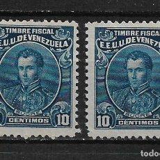 Sellos: VENEZUELA SELLO FISCAL - 2/9. Lote 193873358